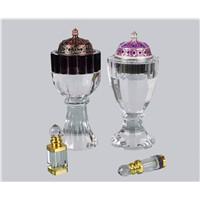 transparent crystal  incense burner