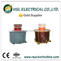 Aluminum coil single phase harmonic filtering air core smoothing reactors