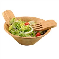 Bamboo Salad Bowls--Shape by hand