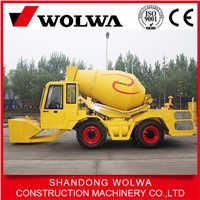 2.5 cubic meters self loading concrete mixer truck with low price