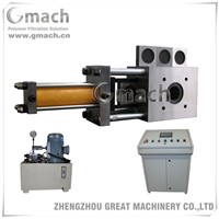 Single plate type four working station hydraulic screen changer for plastic recycling extruder