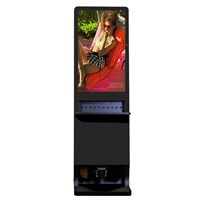 42 Inch Touch Screen Mobile Phone Charging Kiosk Station With Shoe Polisher