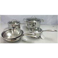Wsy-008 Folded Edge 8PCS Cookware Set
