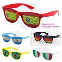 OEM wholesale fashion sticker pinhole sunglasses with logo sticker