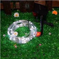 waterproof outdoor solar led rope string light,swiming pool decoration led string light