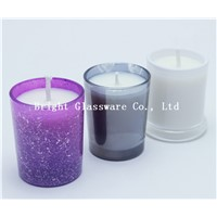 Wedding decoration colorful gift glass candle holder made in China