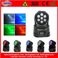7x10W RGBW 4in1 event party stage Wash Moving Head LED Light