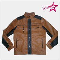 PU Jacket for Man Wholesale Leather Jacket