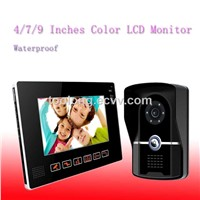9 Inch TFC Color Video Door Phone,LCD Display Video door bell