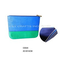 Blue and Green Flat Clutch (C0024)