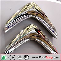 Custom Electroplating Silver Chromed Acrylic ABS Plastic Car Logo