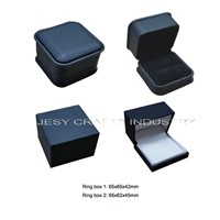 black leather ring box