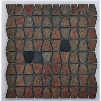 Latest Iridescent Series Glass Mosaic with Trapezoid shape