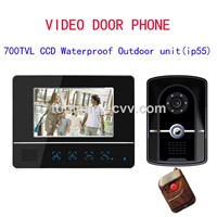 New design 7 Inch TFC Color Video Door Phone,LCD Display Video door bell