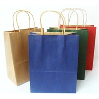 kraft paper bag with twsited handle