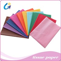 17gsm Colored wrapping clothes tissue paper 50*75cm sheet