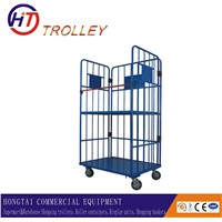 Best Selling Foldable Supermarket Warehouse Storage Roll Containers with 4 Wheels