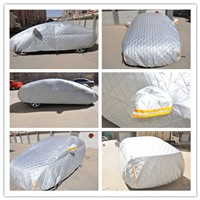 China manufacture 3 layers soft material polyester cold resistence car cover