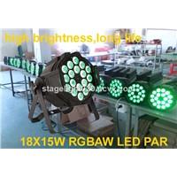 18x15W RGBAW 5 in 1 LED DMX Christmas Light,Wedding Party Light,Par64 DMX