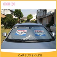 Foldable polyester front window car parking shade