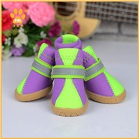 Wear-resistant Anti-Slip Neoprene Dog Boots Waterproof Leisure Pet Shoes Sneakers Rubber Sole