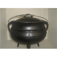 cast iron three legged potjie pot