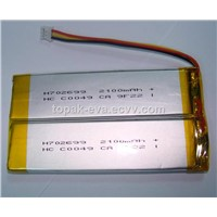 3.7V 2100mAh polymer Lithium ion battery H702699 for toys