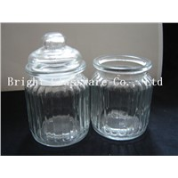 glass candy jar with lid, storage jar, food jar sale