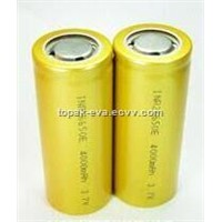 High quality 3.7V 4000mAh rechargeable Li-ion battery 26650