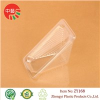 disposable plastic cake container packaging with lid
