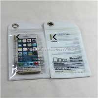 Factory Directly Customized Clear PVC Bag For Cell Phone With Zipper