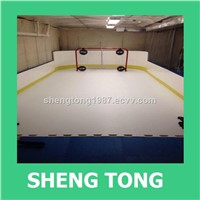 synthetic ice sheet for ice rink , Synthetic ice rink board shengtong brand made in China