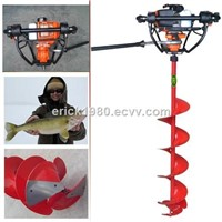 Quick-stop fishing ice drill ice auger ice breaker