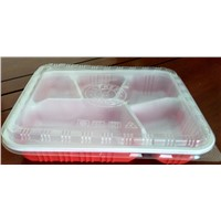 lunch box / takeaway food container / disposable plastic tray for food
