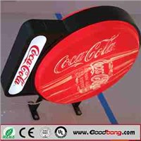 Anti-corrosion Outdoor Acrylic light box display for Advertising