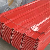 Aluminum colored corrugated plate with PE coated or PVDF coated