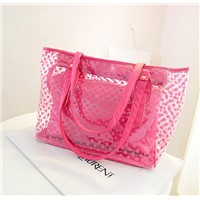 Hot ladies handbag pvc bag pvc waterproof bag clear pvc handbags