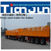 CIMC Quality 3axles One-Group Stake/Cargo Semi Trailer from China trailer manufactory