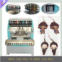 pvc keychain making machine with 12 colors