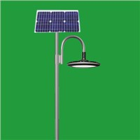 Solar garden lighting pole