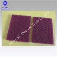 red cleaning  scouring pad
