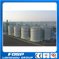 Coffee bins for storage coffeen beans, galvanized steel silos used