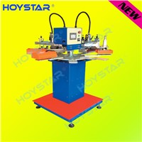 2 color Rapid Rotary Garment Tag/Label Flat Silk Screen Printing Machine
