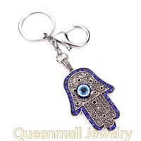 unique design lucky evil eye fatima hamsa metal key chain MPKC-030
