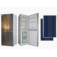 138 Liter Solar Powered DC Refrigerator /Fridge with Solar Panel Lithium Battery Controller