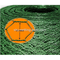 1 inch hole PVC coated chicken coop hexagonal wire mesh