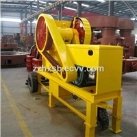 Small mobile diesel engine jaw crusher for rock ore