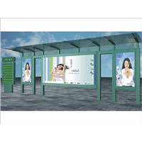 Stainless Steel Bus Stop Shelter (HS-BS-A002)