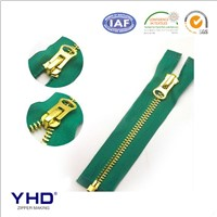5# light gold open end metal zipper
