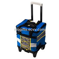 2015 Newest Fashion Blue Trolley Cooler Bags